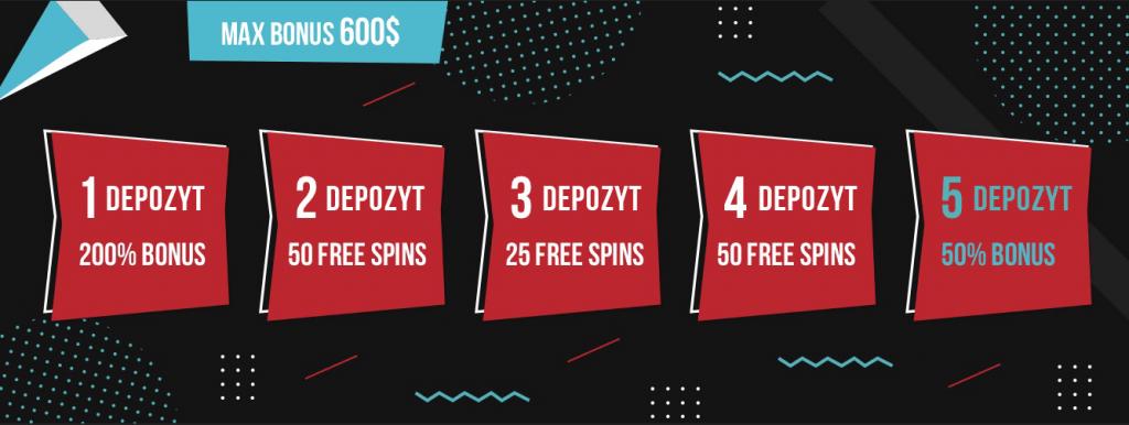 Bonusy w Booi Casino